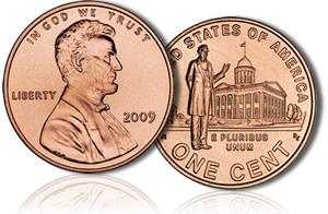 Третья центовая монета Линкольна