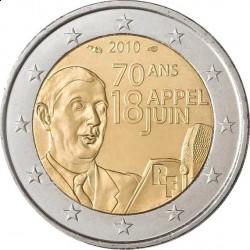 Франция, 2 евро, 2010 г.