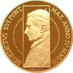 Ватикан, 100 евро, 2008, Сикстинская капелла, аверс