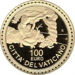 Ватикан, 100 евро, 2009, Сикстинская капелла: изгнание из Рая