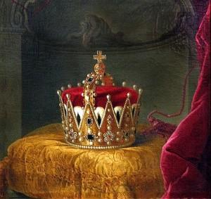 Эрцгерцогская корона на картине (ок.1765 г., Австрия)