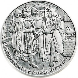 Австрия, 10 евро, Ричард Львиное Сердце, реверс