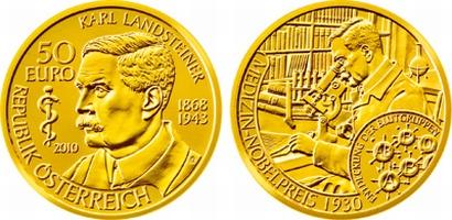 Австрия, 50 евро, Карл Ландштейнер