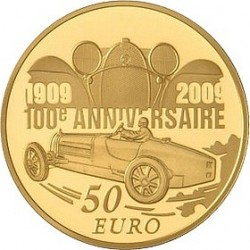 Франция 2009 Бугатти 50 евро, реверс