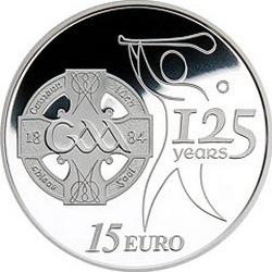 Ирдандия, 15 евро, 125 лет GAA, аверс