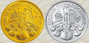 Единая сторона золотых и серебряных инвестиционных монет