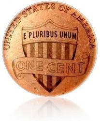 Реверс 1 цент США с 2010 года