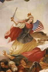 Свобода, борющаяся за свободу (Капитолий, Вашингтон. Художник Constantino Brumidi)
