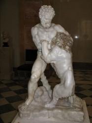 Битва Геракла с Немейским львом. Римская копия оригинала работы Лисиппа