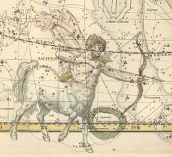 Стрелец на Звездном атласе А.Джеймсона, 1822 г.