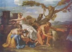 Никола Пуссен «Воспитание Юпитера» (2-я пол. 17-го  в.)