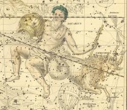 Водолей и Козерог на Звездном атласе А.Джеймсона, 1822 г.