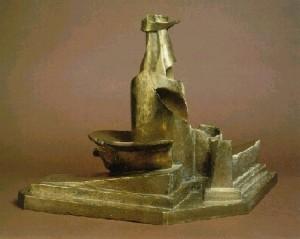 Развитие бутылки в пространстве (Умбе́рто Боччо́ни, бронза, 1912, Музей современного искусства, Нью-Йорк)