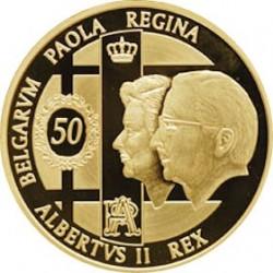 100 евро, Бельгия, 2009, 50 лет со дня бракосочетания, аверс