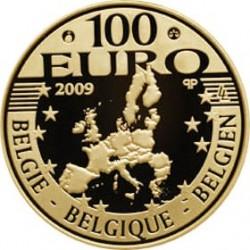 100 евро, Бельгия, 2009, 50 лет со дня бракосочетания, реверс