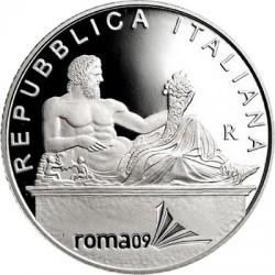 Италия 5 евро, Чемпионат мира по водным видам спорта, аверс