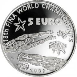 Италия 5 евро, Чемпионат мира по водным видам спорта, реверс