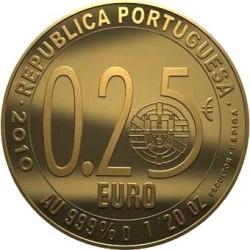 Португалия, 2009, 1/4 евро, Луис Камоэнс, реверс