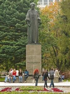 Памятник Марии Кюри в Люблине (Польша)