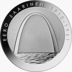 Финляндия, 10 евро, Ээро Сааринен, аверс