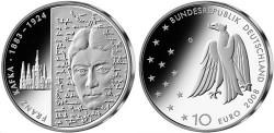 "Германия, 10 евро, ""125 лет со дня рождения Франца Кафки"""