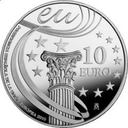 Испания, 2010, 10 евро, председательство Испании и ЕС, реверс