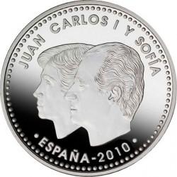 Испания, 2010, 12 евро, председательство Испании и ЕС, аверс