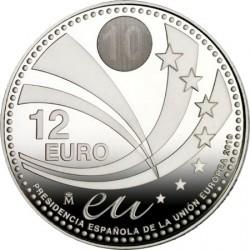 Испания, 2010, 12 евро, председательство Испании и ЕС, реверс
