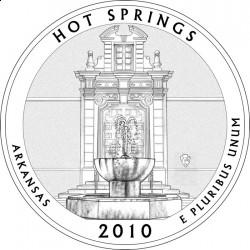 Монета в честь Национального парка Хот-Спрингс