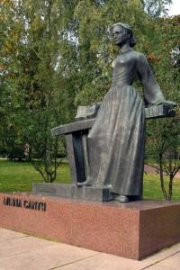 Памятник Минне Кант в Куопио
