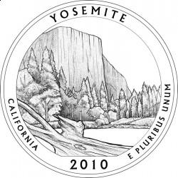 Эскиз монеты Национального парка Йосемити