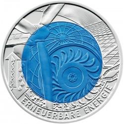 Австрия, 2010, 25 евро, возобновляемая энергия, реверс