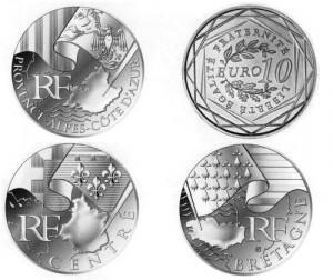 """Эскизы новых монет """"Регионы Франции"""""""