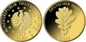 20 евро, 2010, Дуб