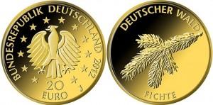 20 евро, 2012, ель