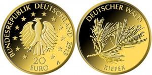 20 евро, 2013, сосна
