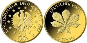 20 евро, 2014, каштан