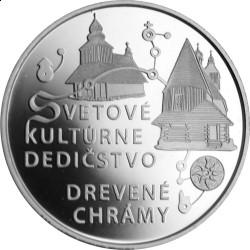 Словакия, 10 евро, Деревянные церкви Словакии, реверс