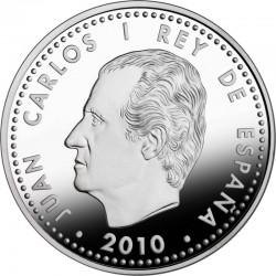 Испания, 2010, 10 евро, Гауди, аверс