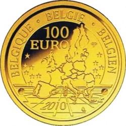 Бельгия, 2010, 100 евро, принц Филипп, реверс