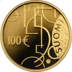 100 евро, 150 лет финским деньгам, реверс