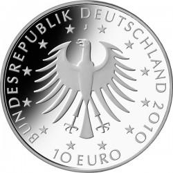 Германия, 10 евро, 2010, Роберт Шуман, аверс