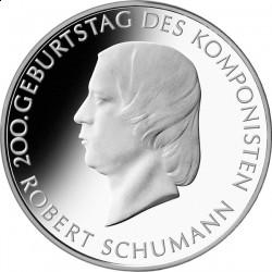 Германия, 10 евро, 2010, Роберт Шуман, реверс
