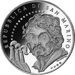Сан-Марино, 2010, 5 евро, Микеланджело да Караваджо, аверс