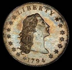 Доллар с изображением Свободы с распущенными волосами 1794 года