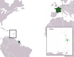 Мартиника на карте мира