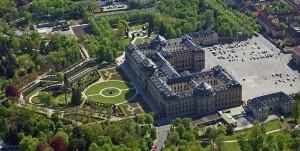 Вюрцбургская резиденция, вид с воздуха
