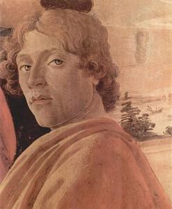 """Сандро Боттичелли, автопортрет, фрагмент картины """"Поклонение волхвов"""", ок 1475 г."""