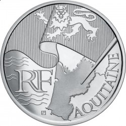 Франция, 10 евро, 2010, Аквитания