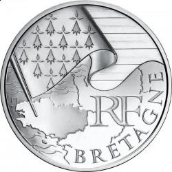 Франция, 10 евро, 2010, Бретань